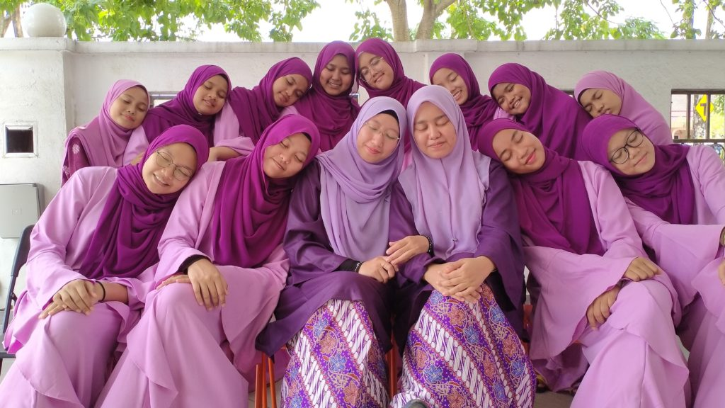The 12 girls who live at Haneen Firdous