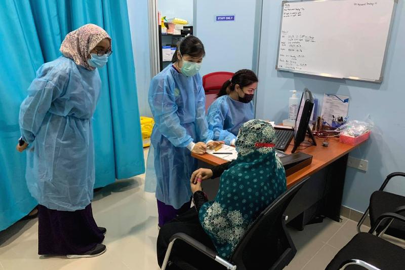 Clinic volunteers
