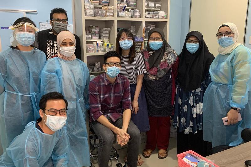Healthcare volunteers at Klinik Amal Muhajir